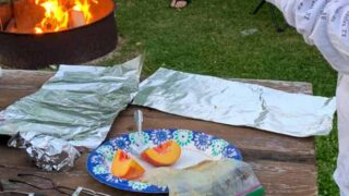 Easy Campfire Desserts: Caramelized Peaches in Foil