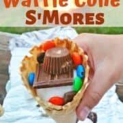 Campfire Dessert: Campfire Smores Cones