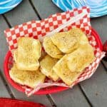 One pot camping meals: grilled garlic toast