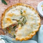 easy chicken pot pie recipe, chicken pot pie with pie crust, chicken pot pie,