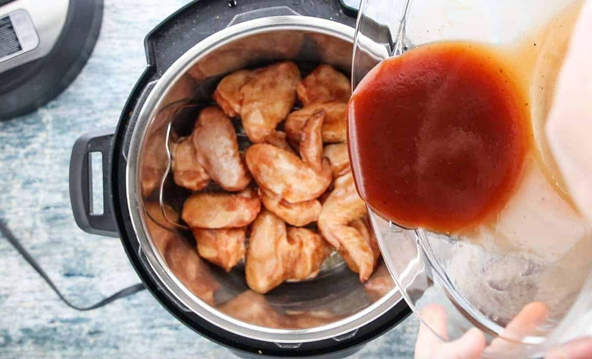 Instant Pot Frozen Chicken Wings recipe being shown in the How to Use an Instant Pot post.