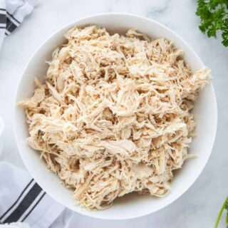 A plate of shredded Chicken
