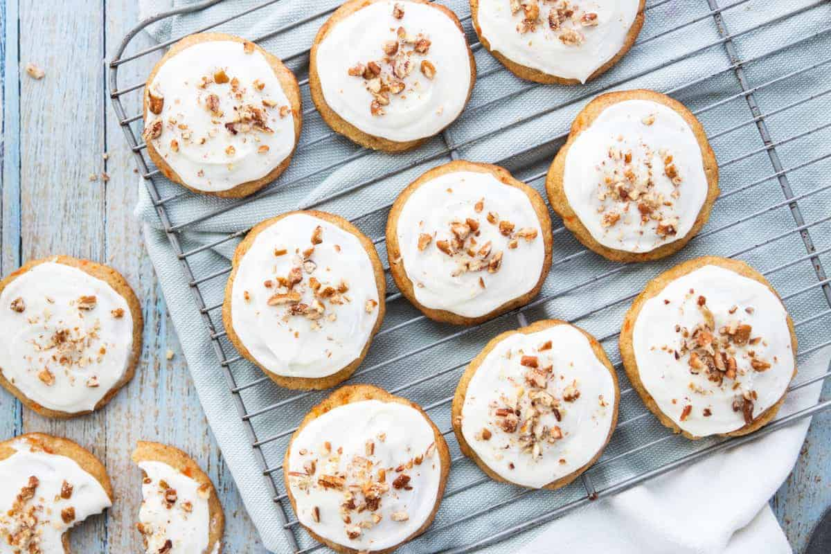 cookies with nuts on top