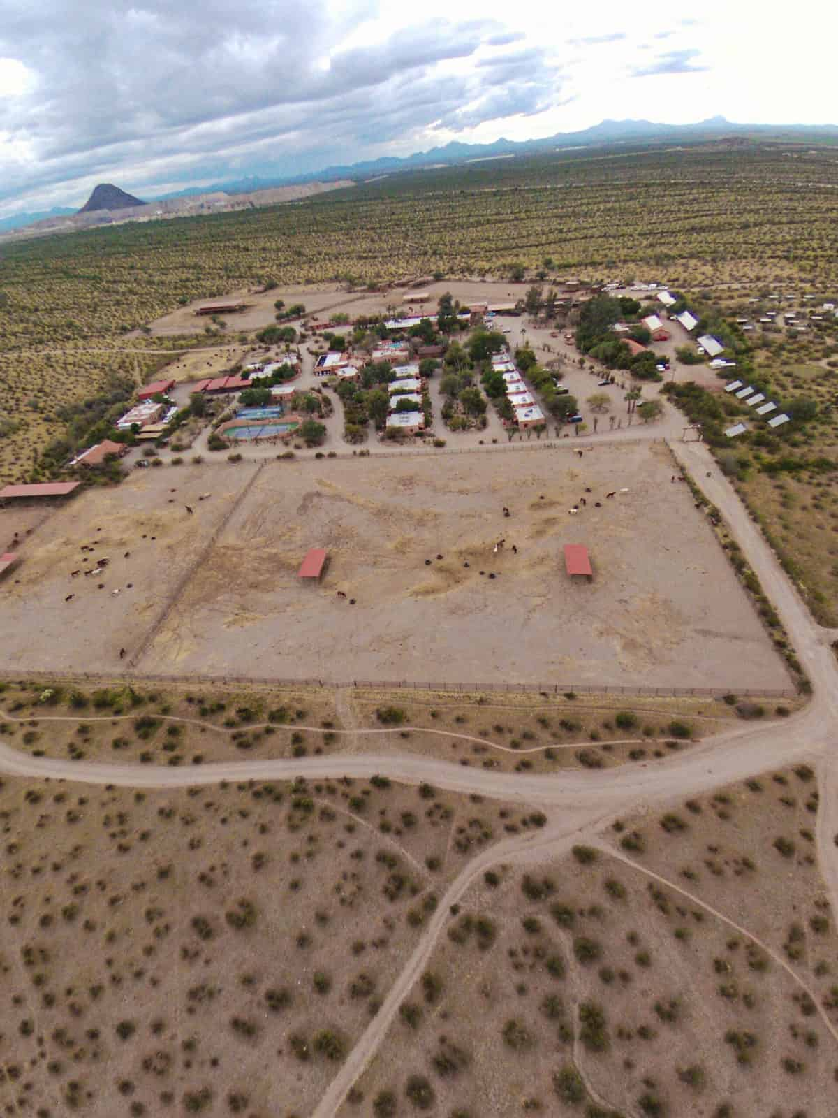 White Stallion Ranch, the Best All-Inclusive Resort in Arizona showing an ariel view of the dude ranch.