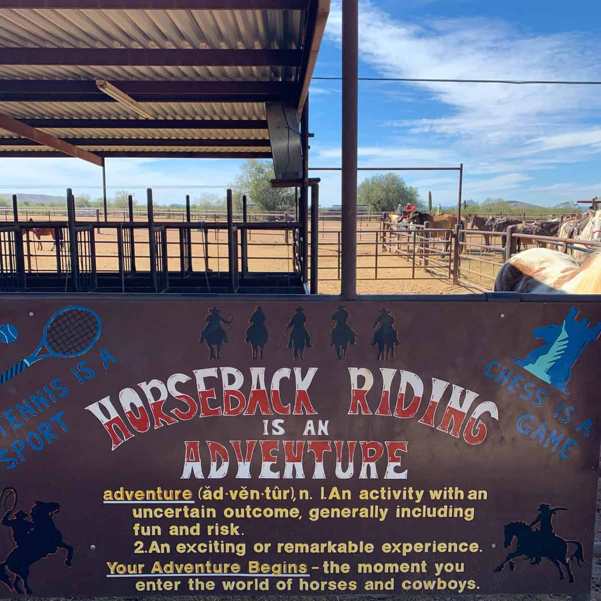 White Stallion Ranch, the Best All-Inclusive Resort in Arizona showing where ranch members are paired up with their horse for the week.