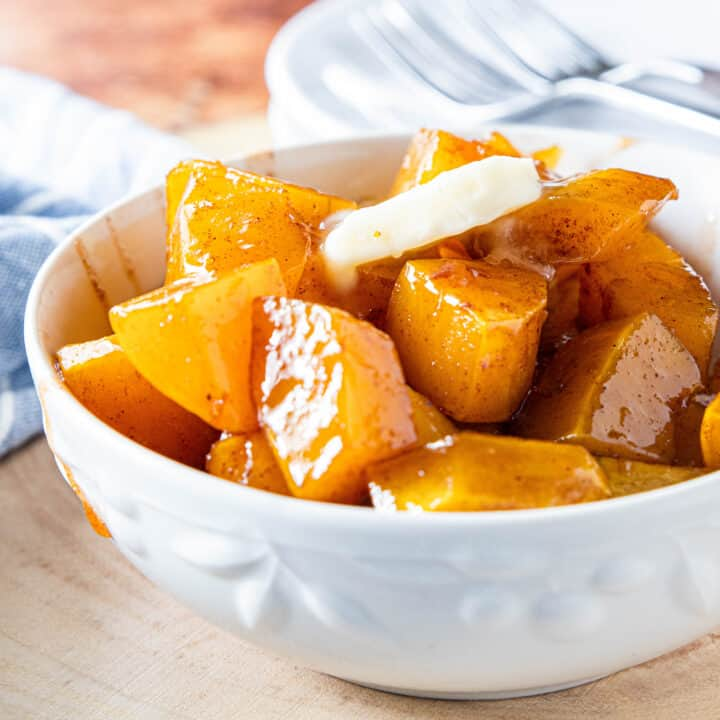 A bowl of Squash with butter