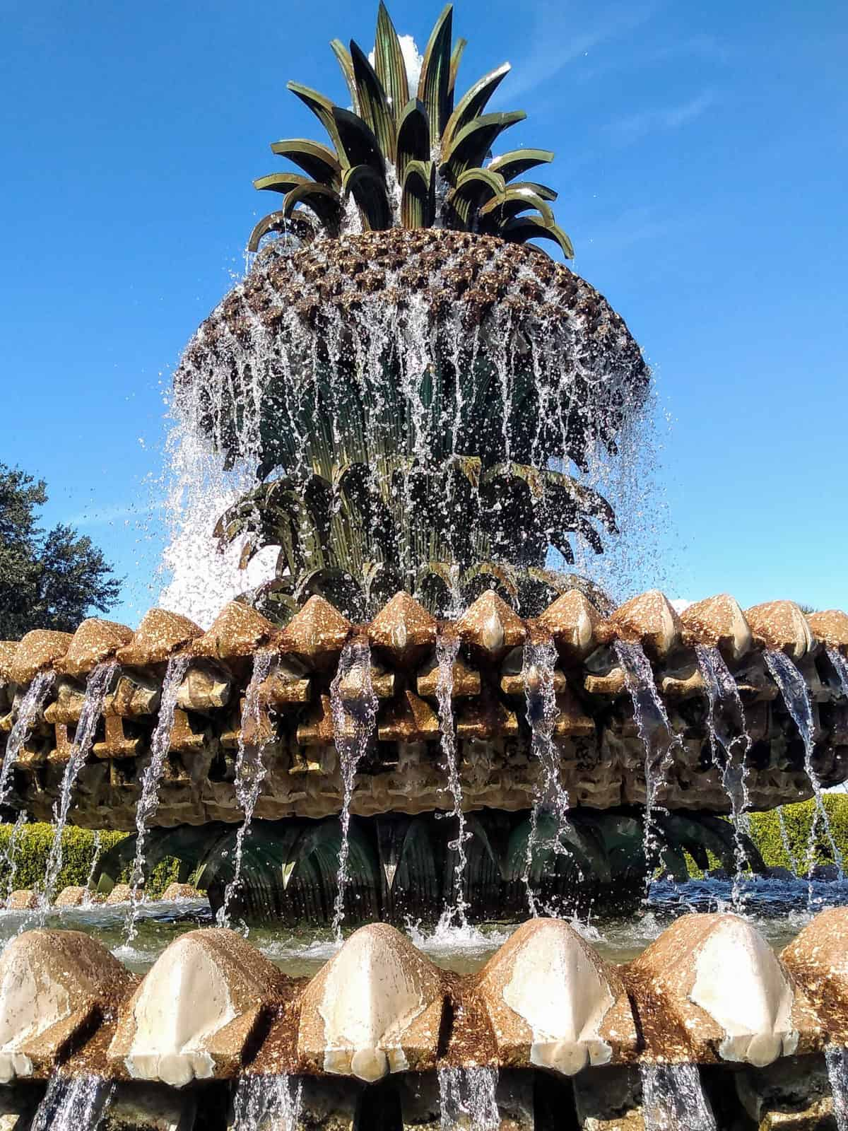 A pineapple fountain in Charleston NC.