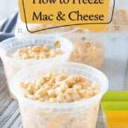 How to Freeze Mac & Cheese