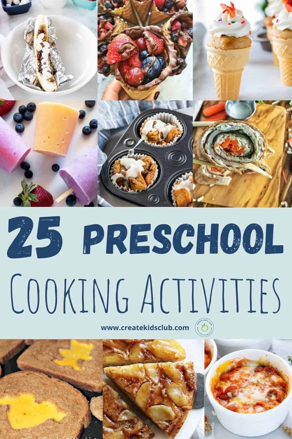A variety of preschool cooking recipes.
