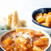 slow cooker chunky vegetable soup