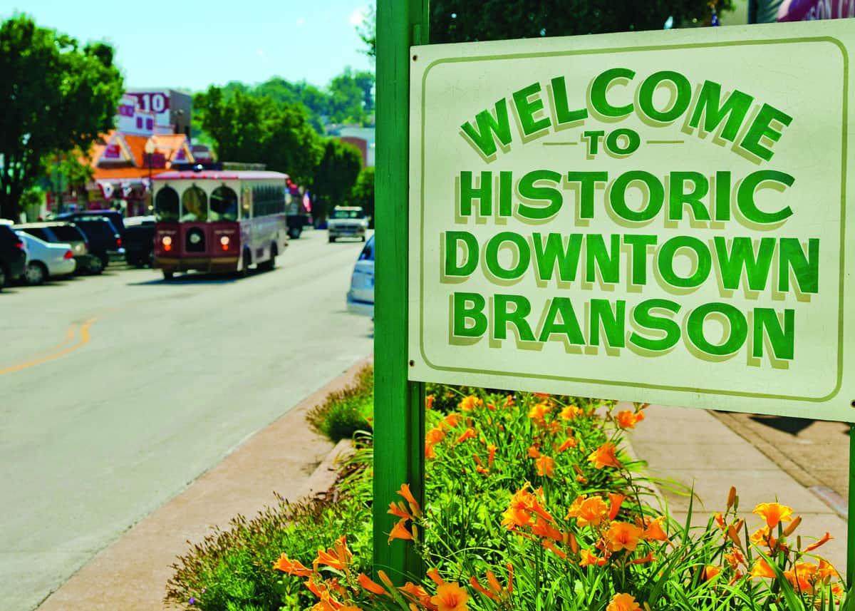 downtown Branson, Missouri sign