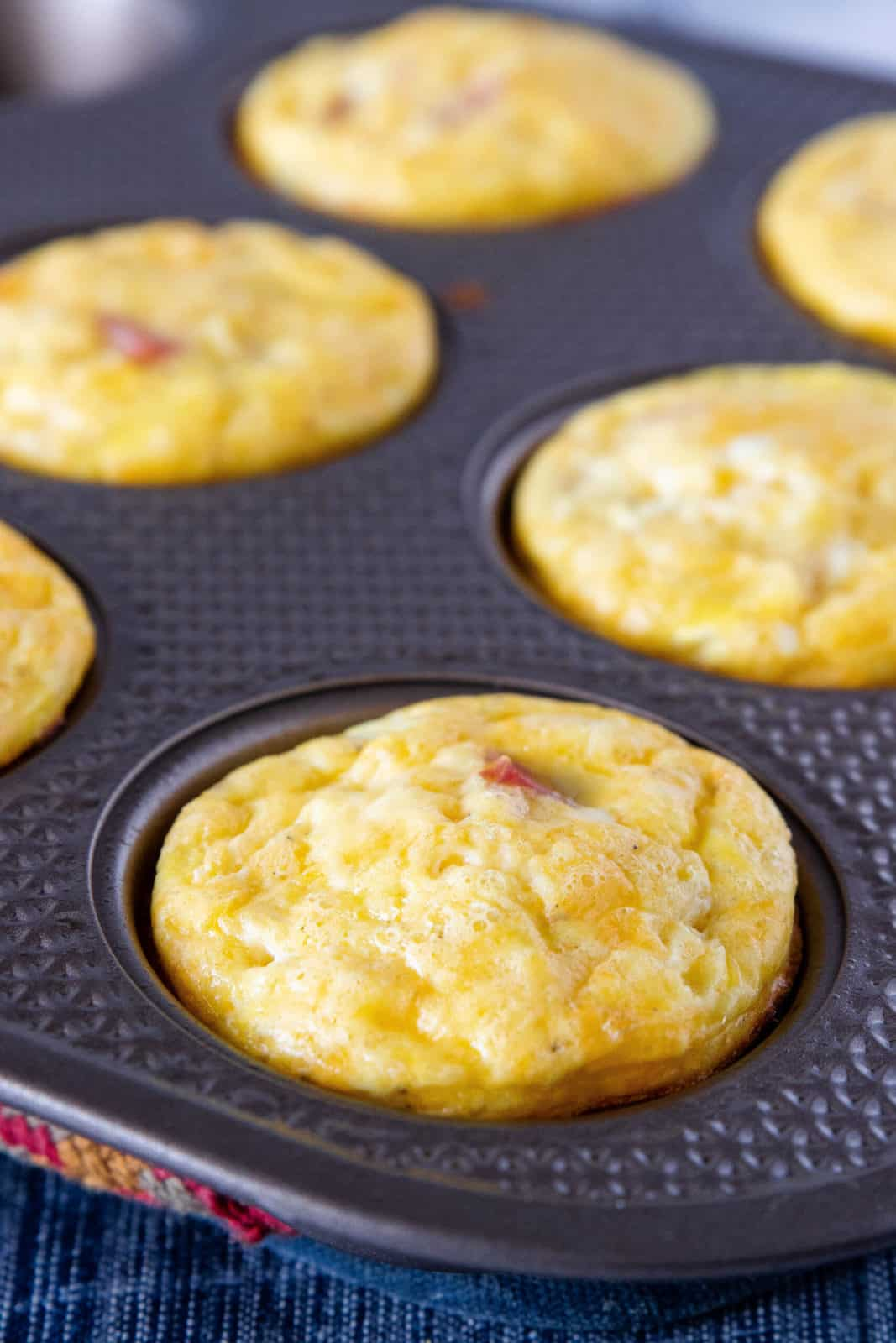 egg cups in muffin tin