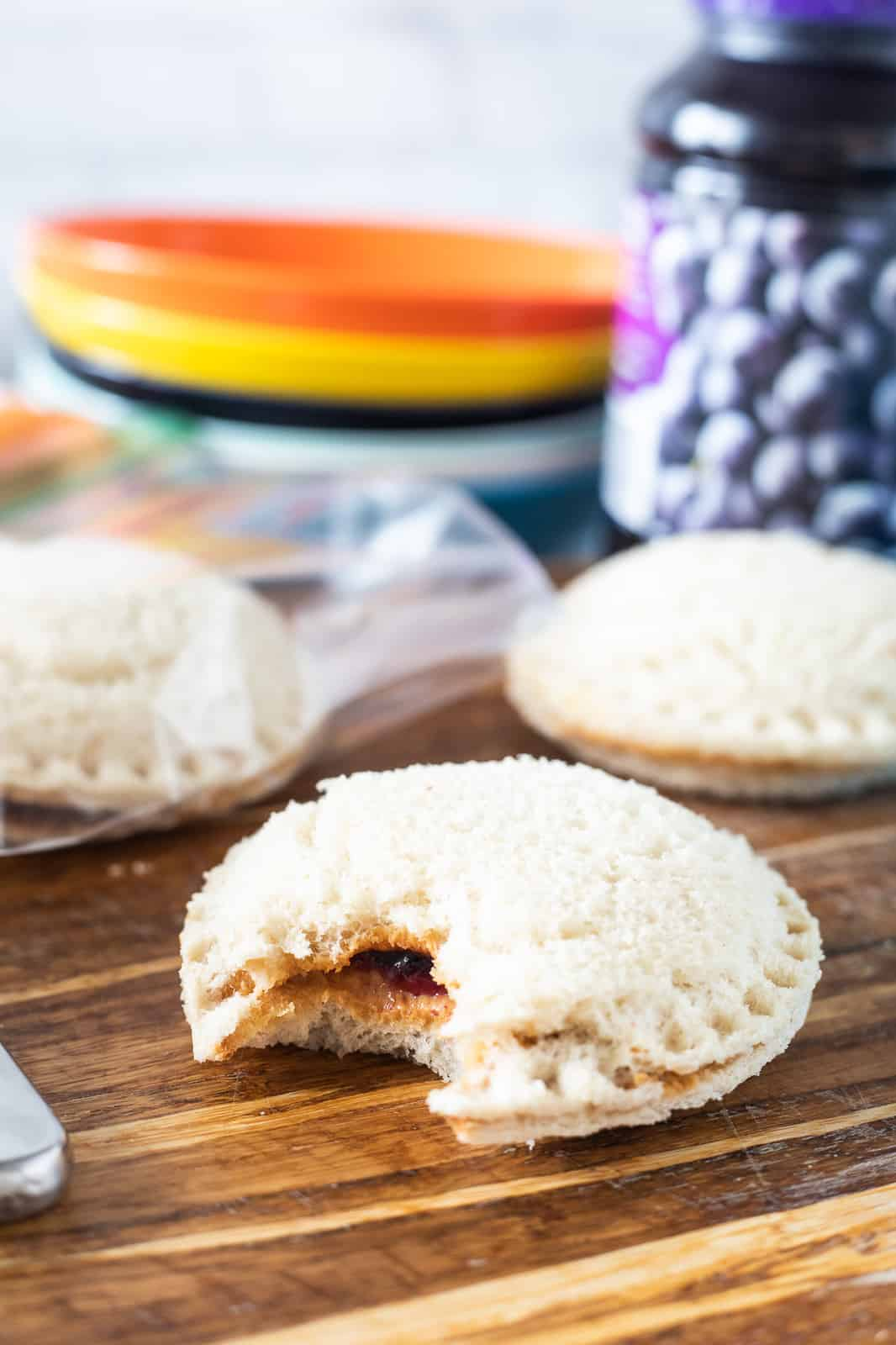 homemade uncrustable on counter