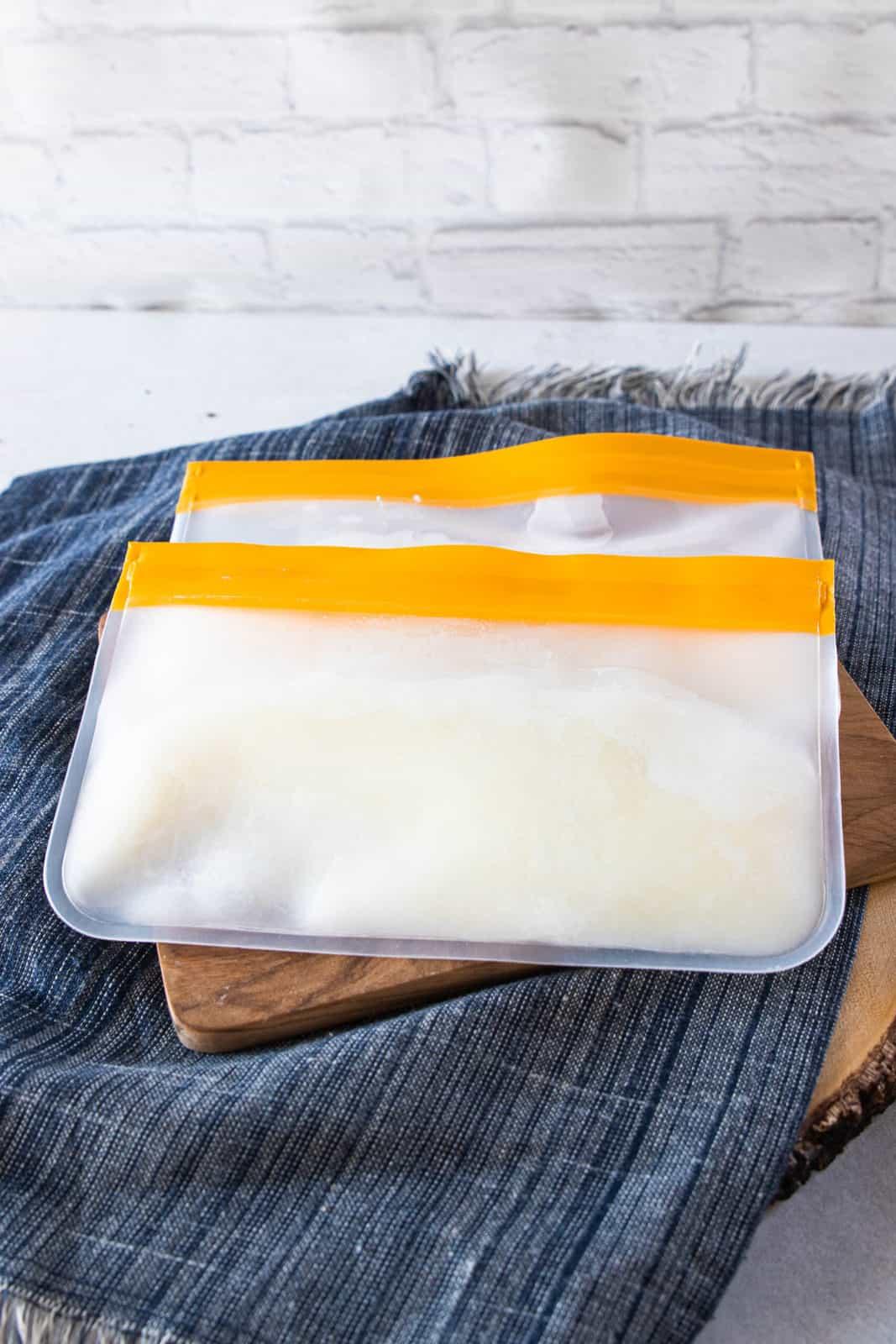 yogurt in stasher bag