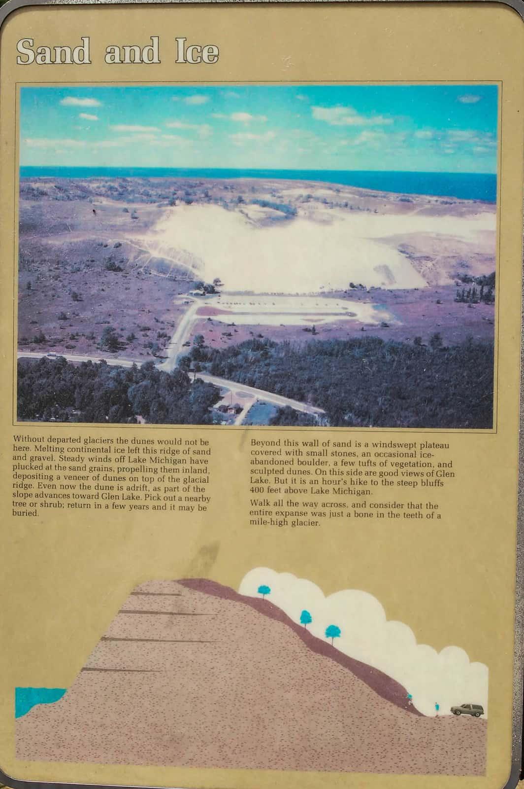 history of Sleeping Bear Dunes in Michigan