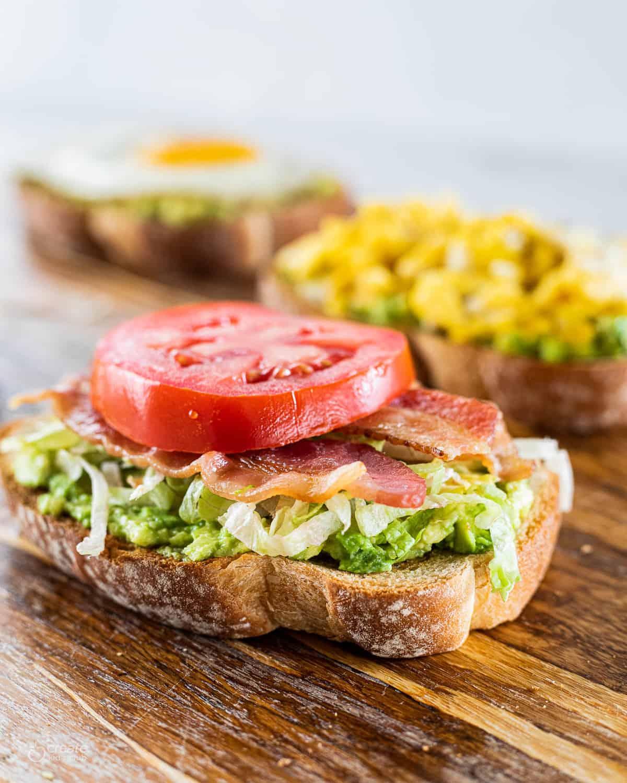 avocado BLT on toast