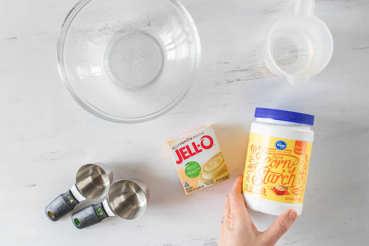 kitchen tools, pudding and cornstarch