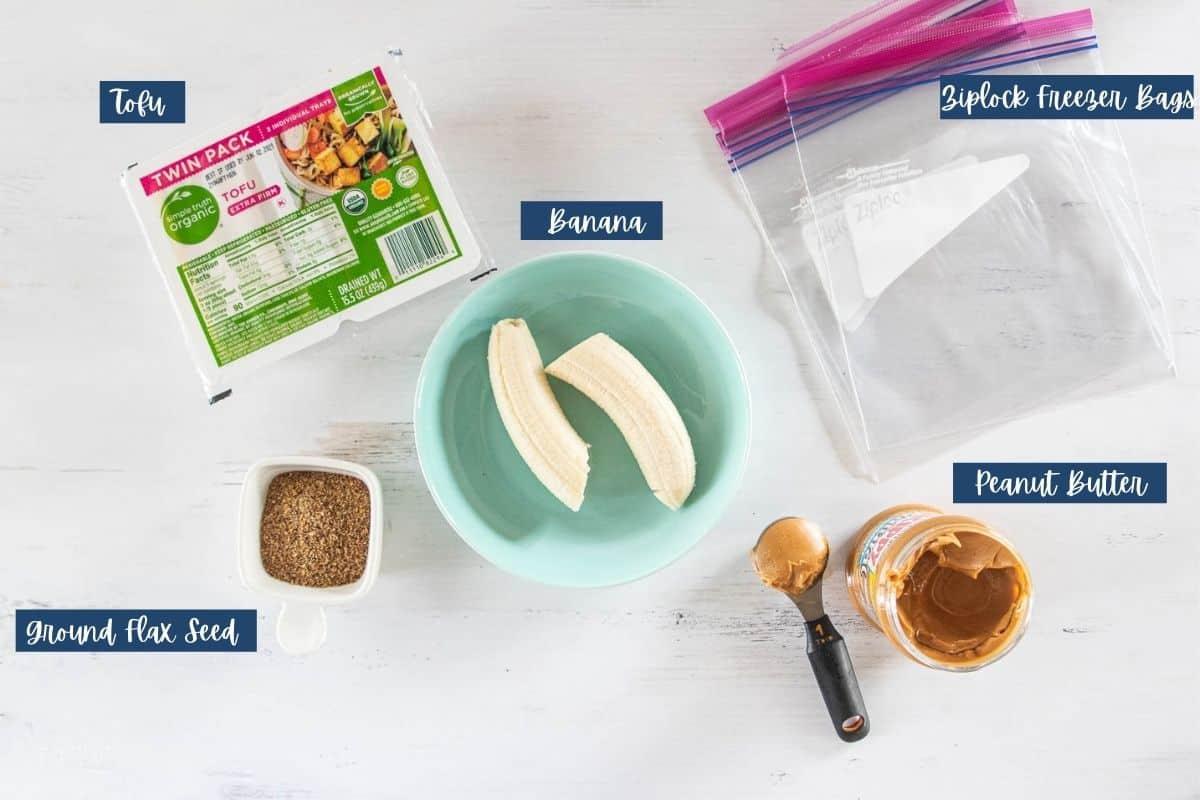 ingredients for smoothie freezer packs