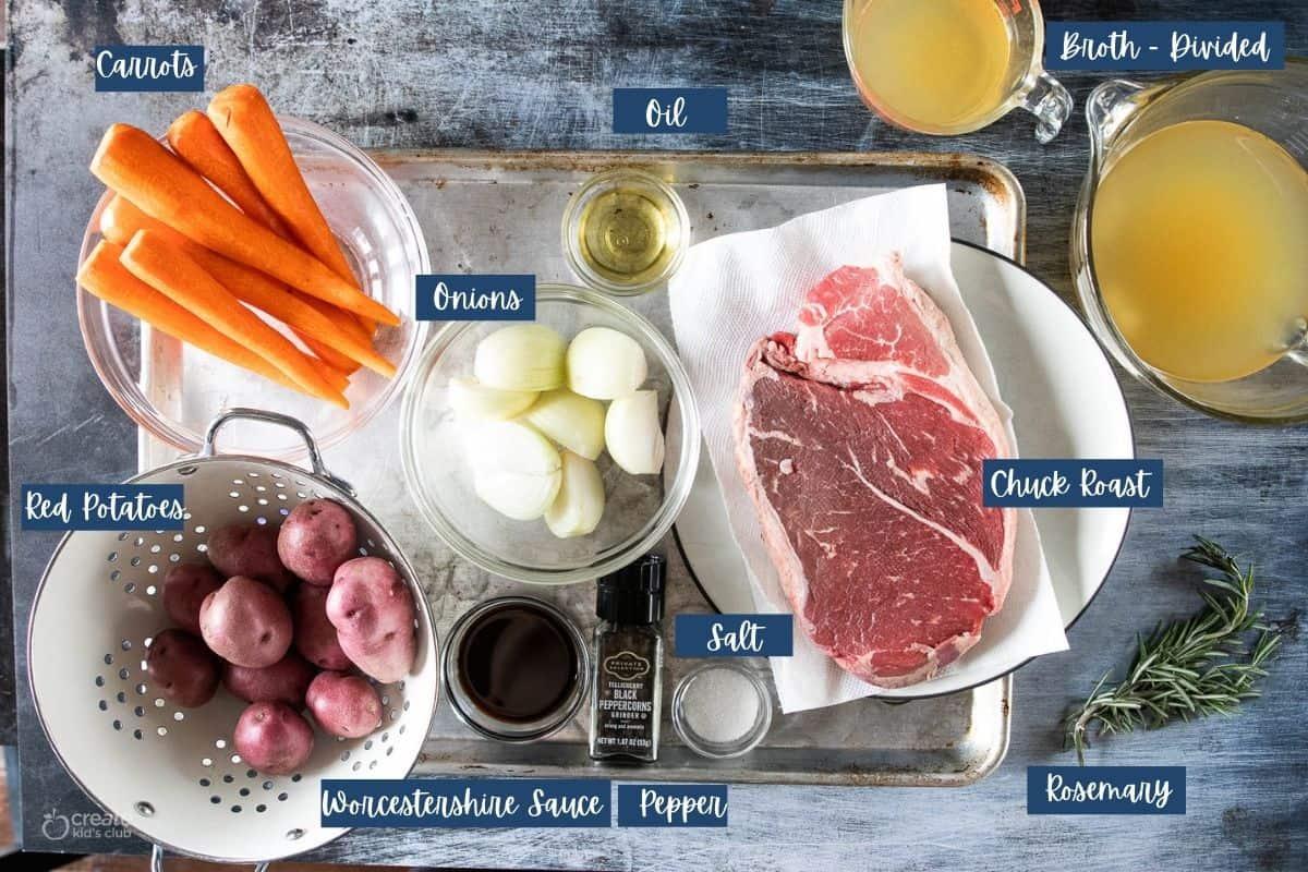 ingredients for instant pot pot roast