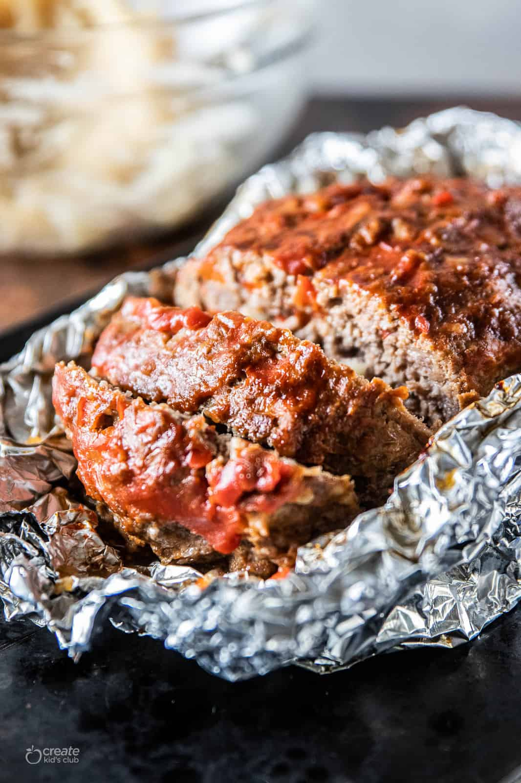 meatloaf sliced into pieces