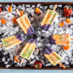 rainbow popsicles on sheet pan