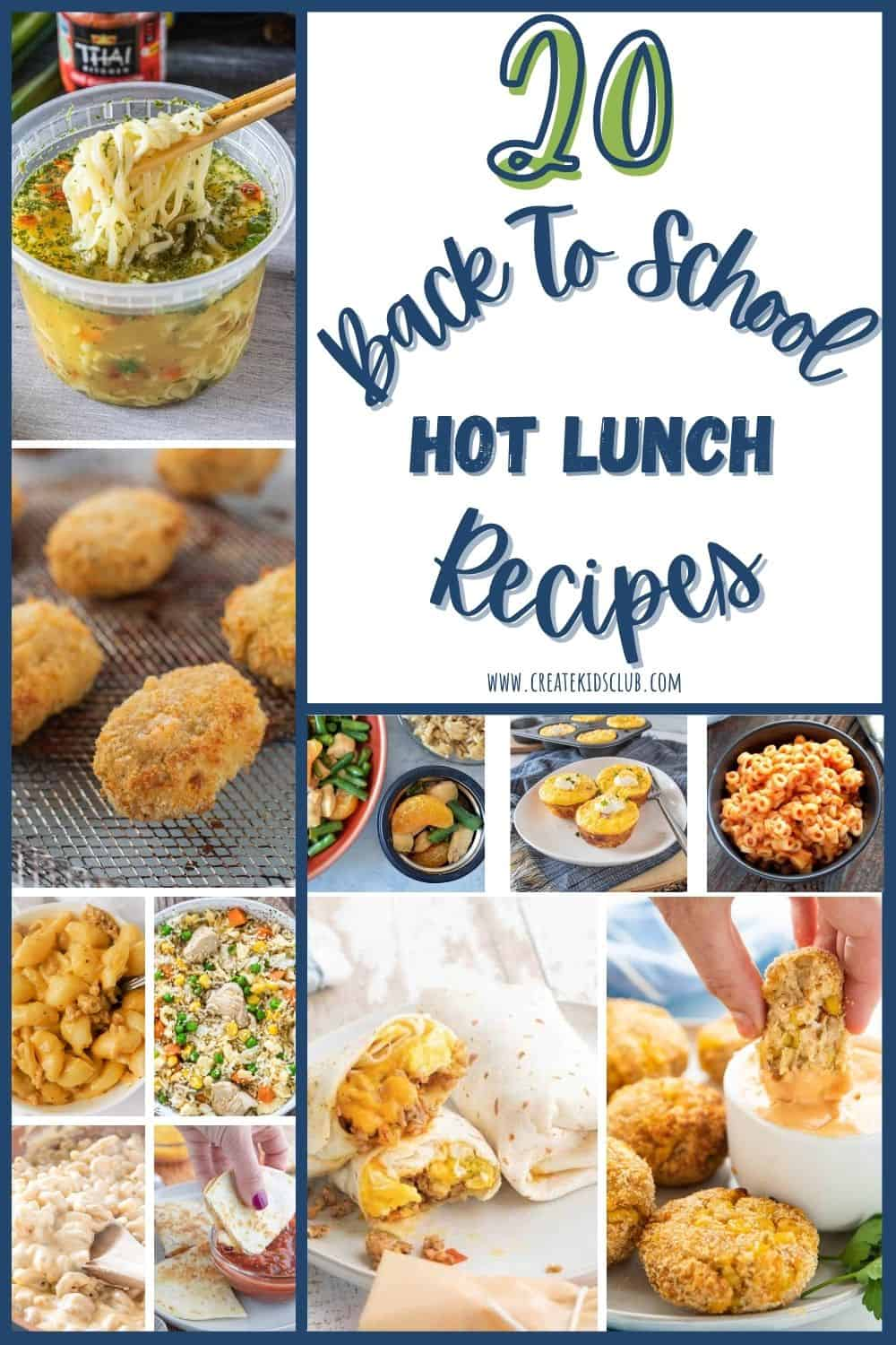 back to school hot lunch recipes