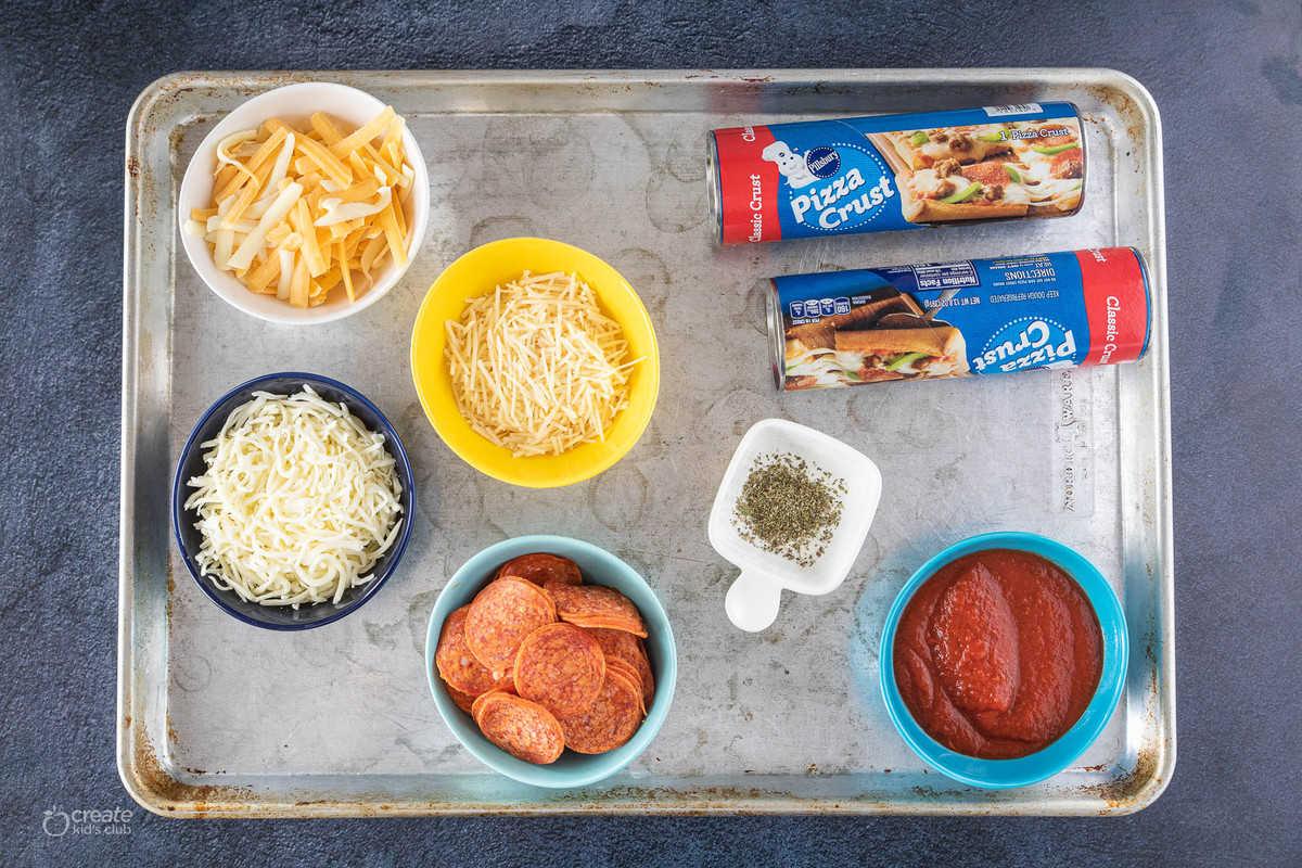 ingredients for sheet pan pizza