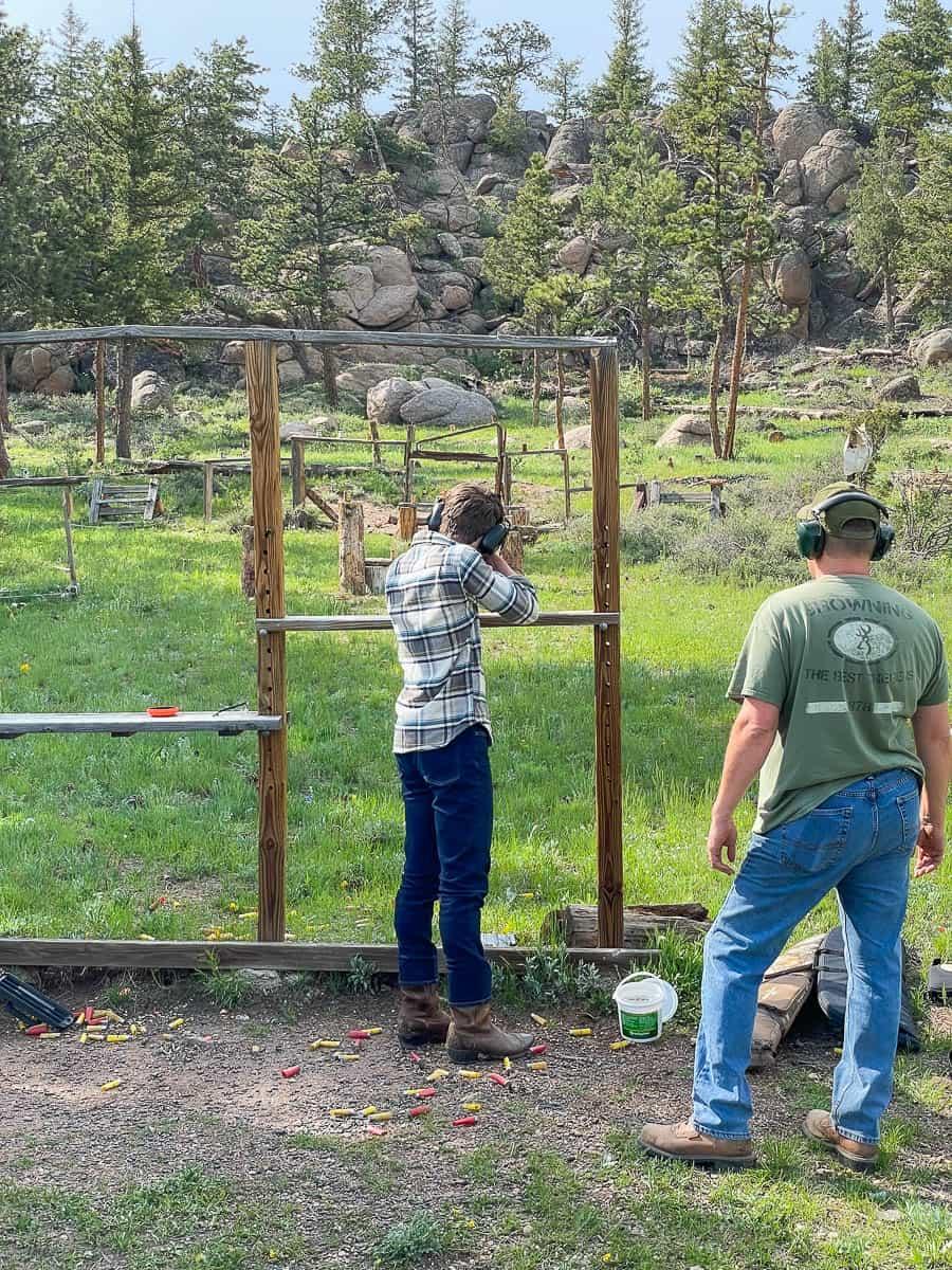 family at a shooting range