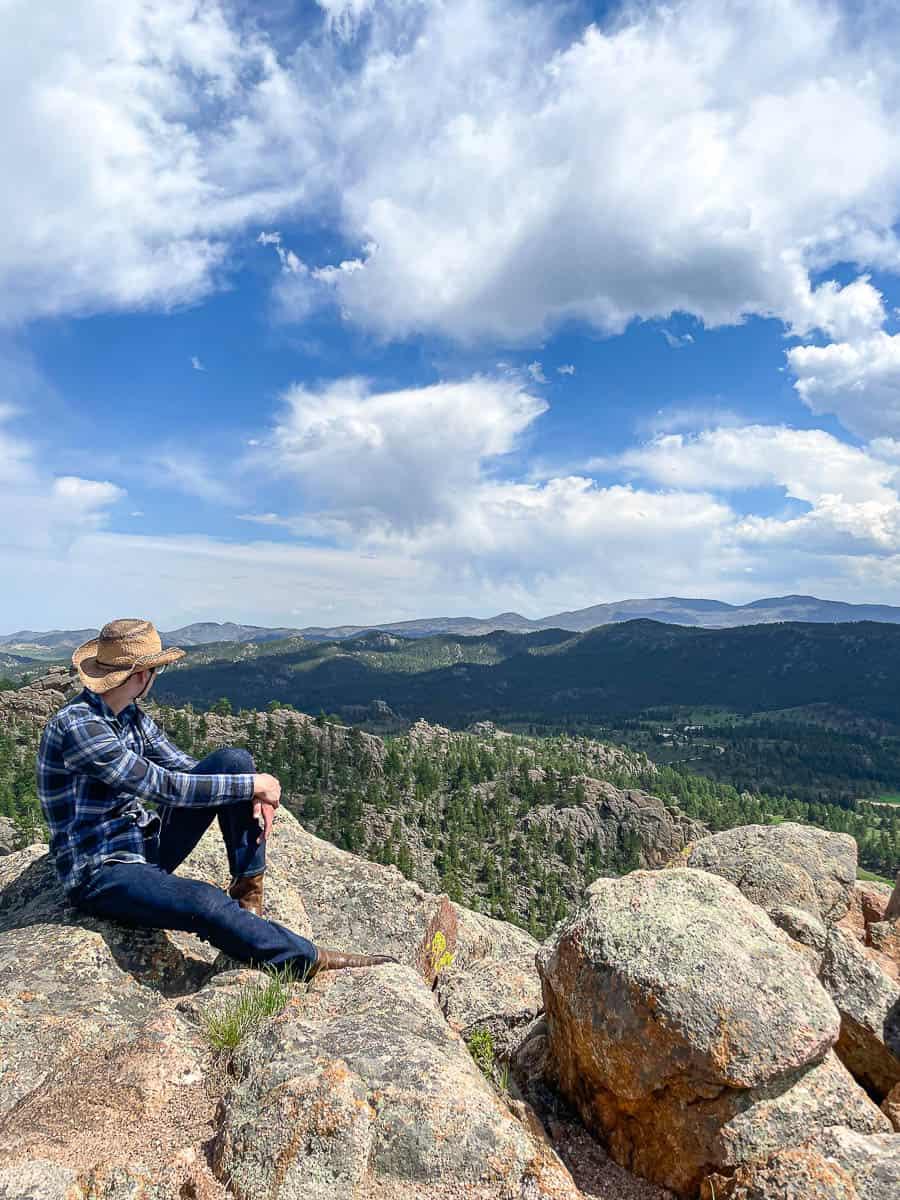 teenager enjoying the views of Colorado