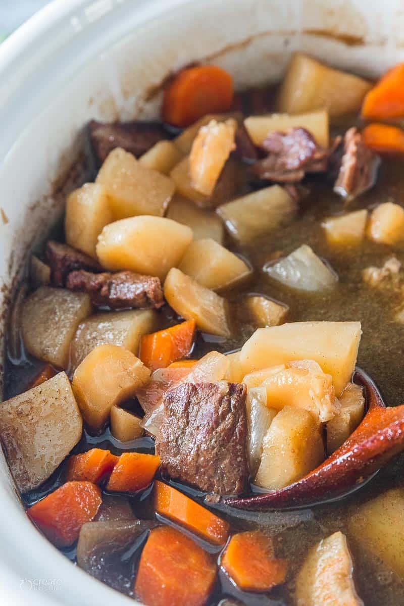 Irish stew in a crockpot