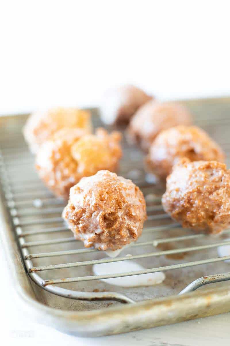 glazed donuts on cooling rack