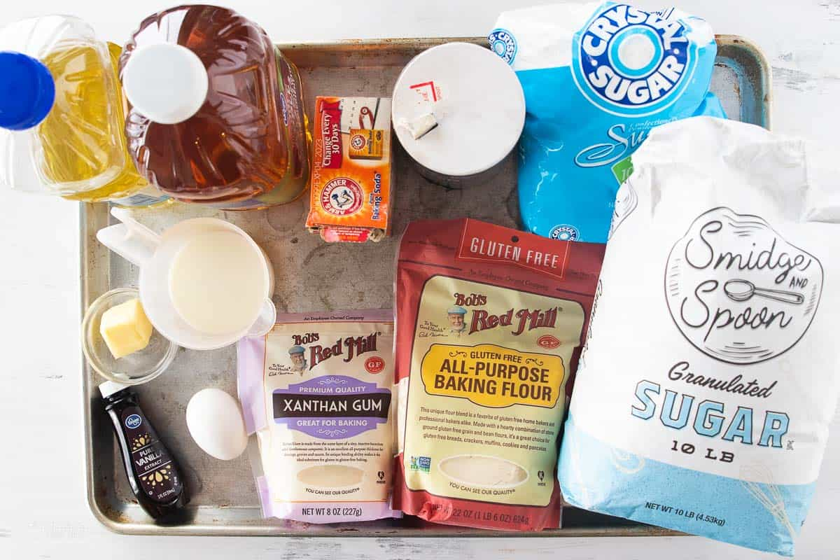 ingredients for gluten free apple cider donuts