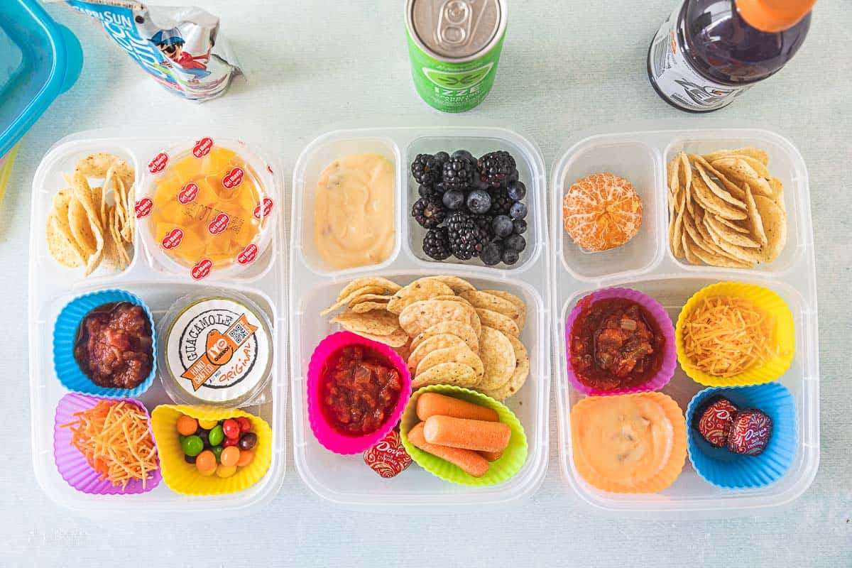 varieties of lunchboxes made at home