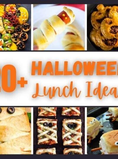 Halloween lunch ideas with photos of ideas.