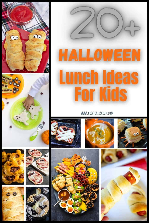 Halloween lunch ideas with 10 photos of ideas.