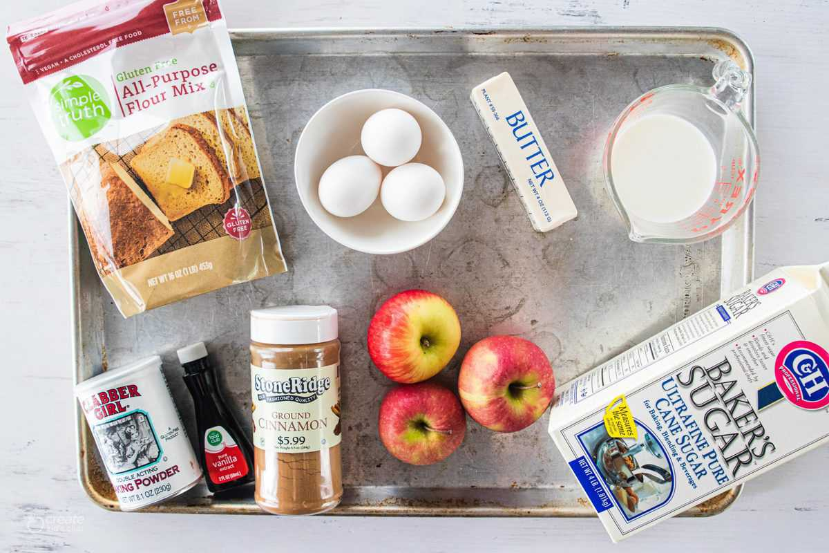 ingredients for gluten free apple cake