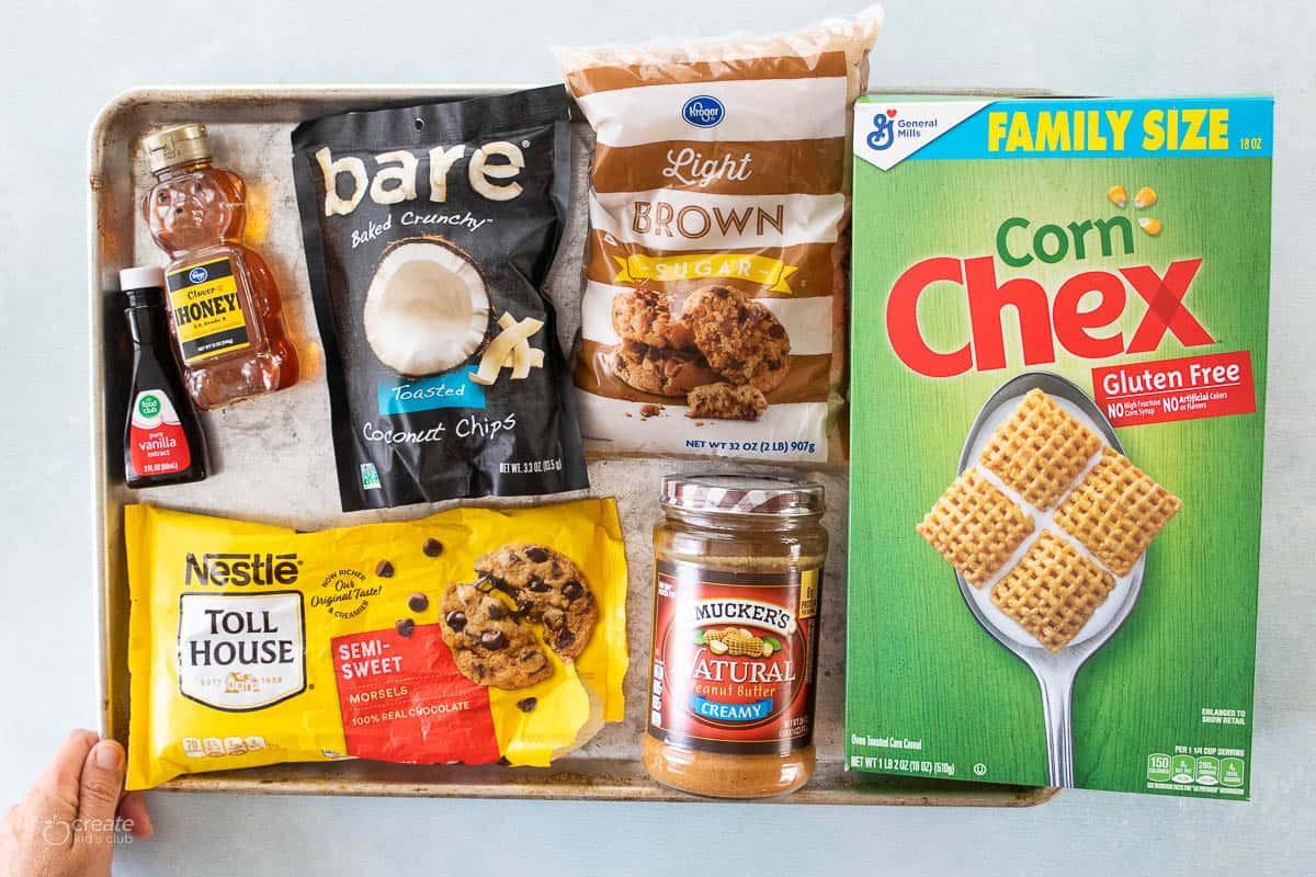 ingredients for gluten free granola bars