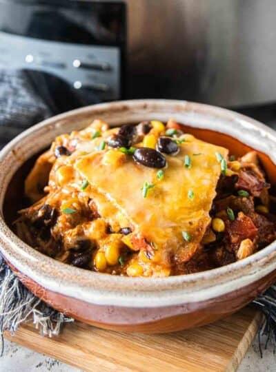 chicken enchilada in bowl