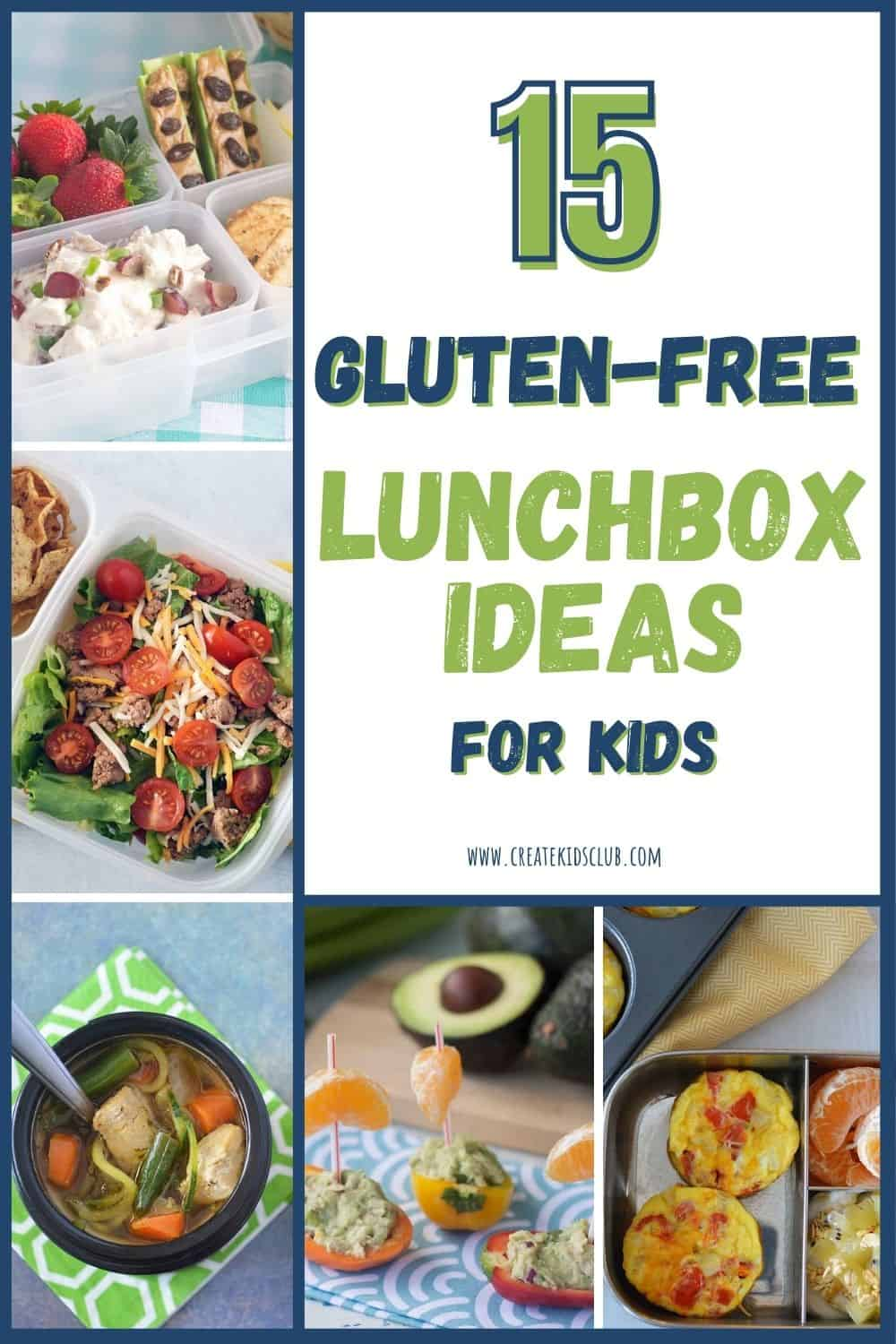 5 recipes showcasing gluten free lunch ideas in a round up of 15 recipes.