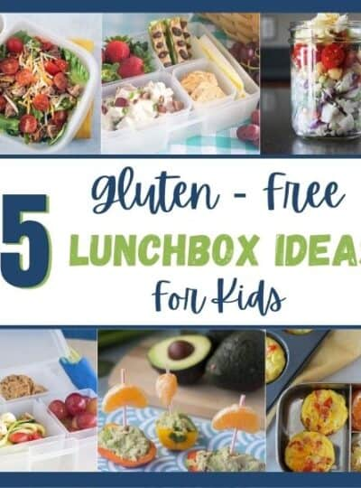 5 recipes showcasing gluten free lunch ideas.