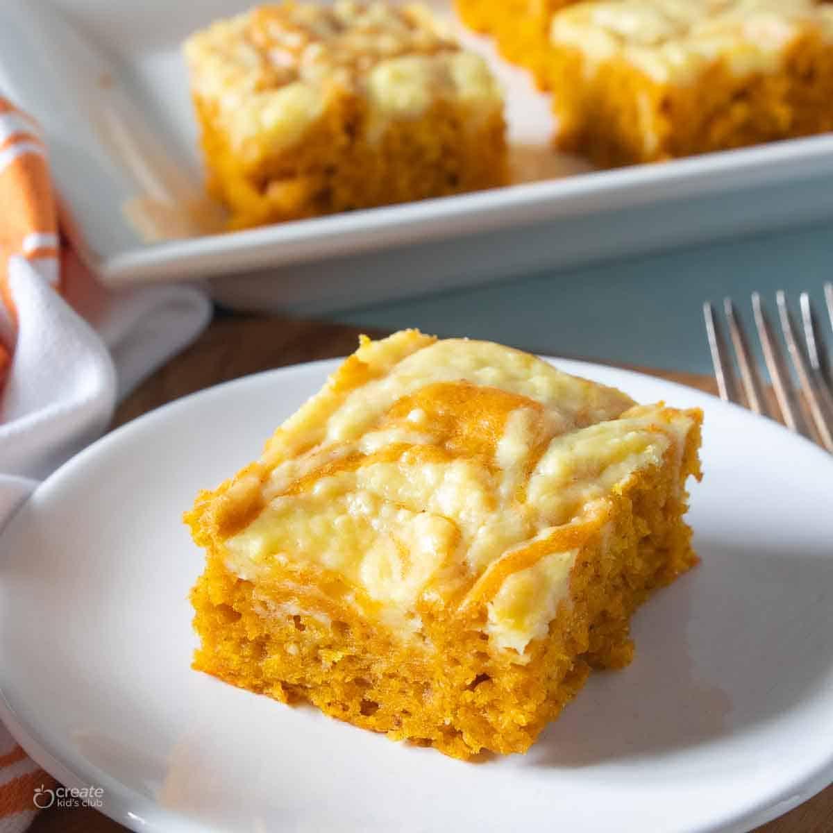 pumpkin bar on plate