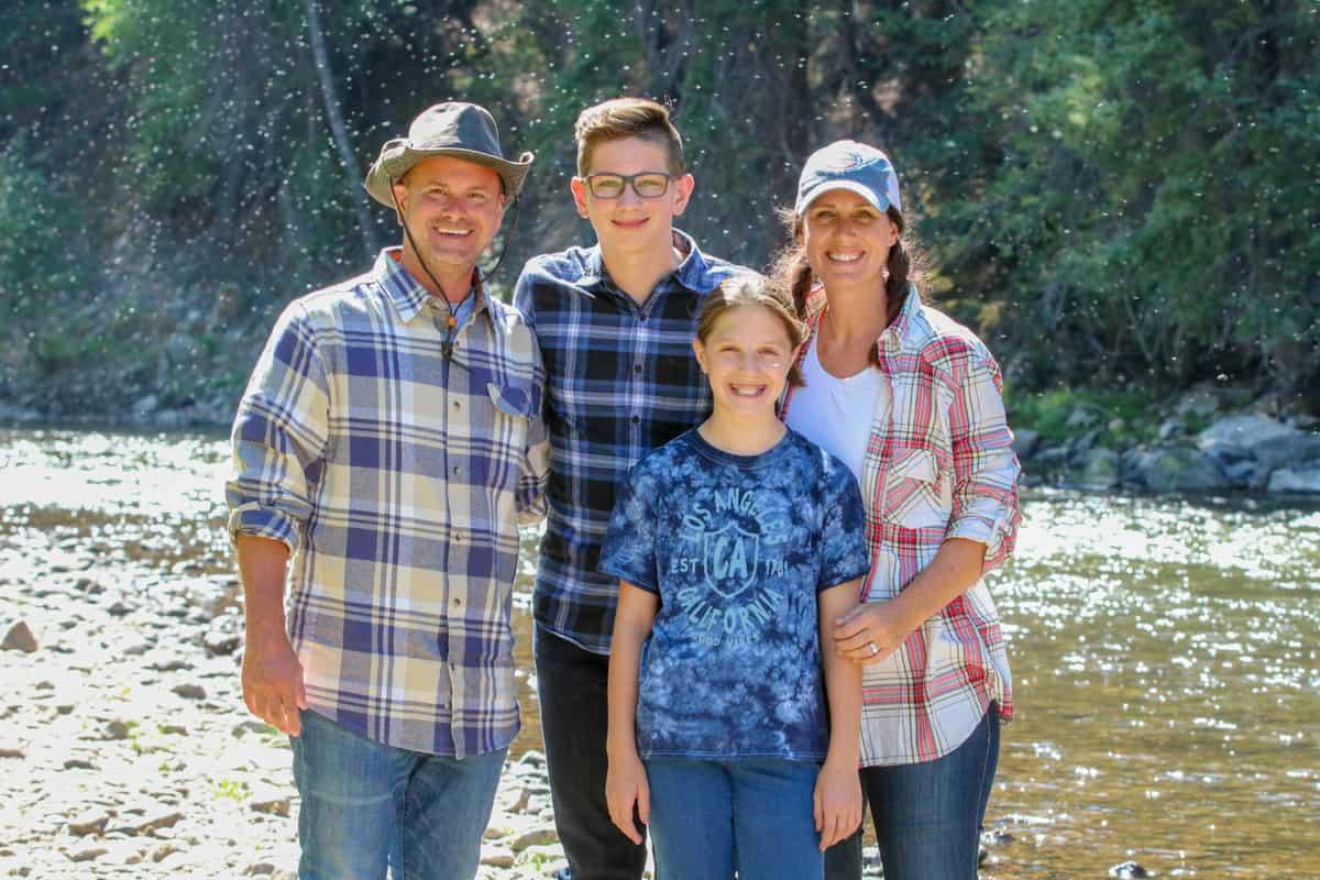 Family picture of create kids club founder Jodi Danen